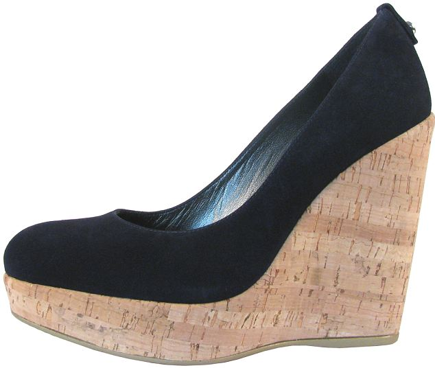 The £245 spring/summer wedges from Russell & Bromley feature a 4 inch cork platform