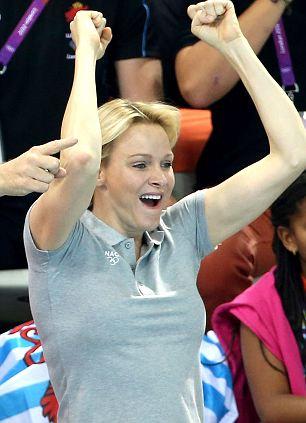 Princess Charlene of Monaco at the Olympics Aquatic Centre