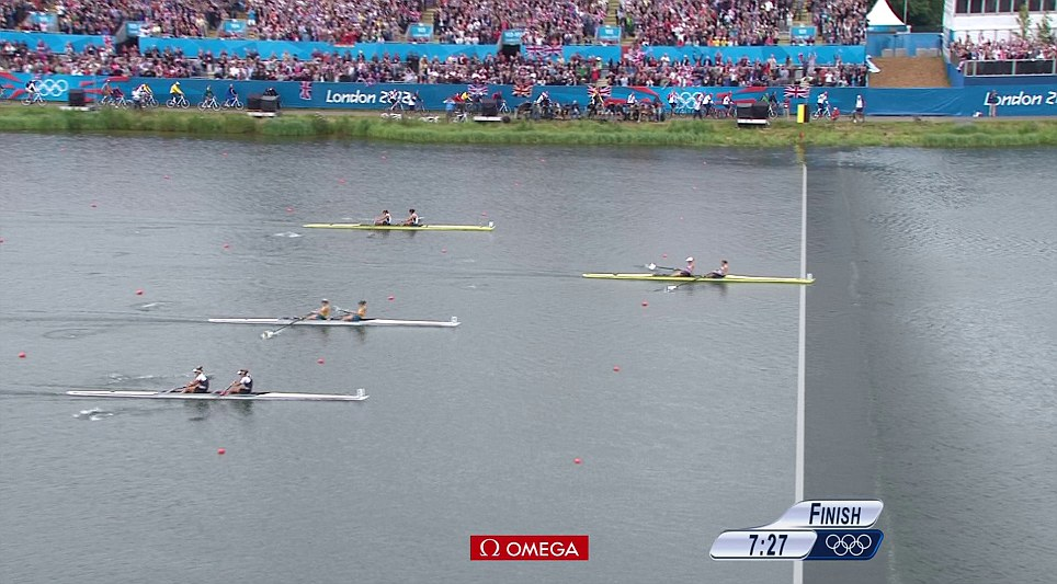Glover and Stanning won by a length from Australia in silver and New Zealand in bronze