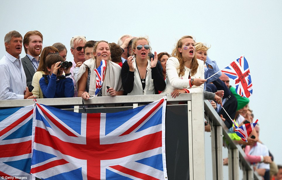 These spectators had a great view of Britain's gold medal glory