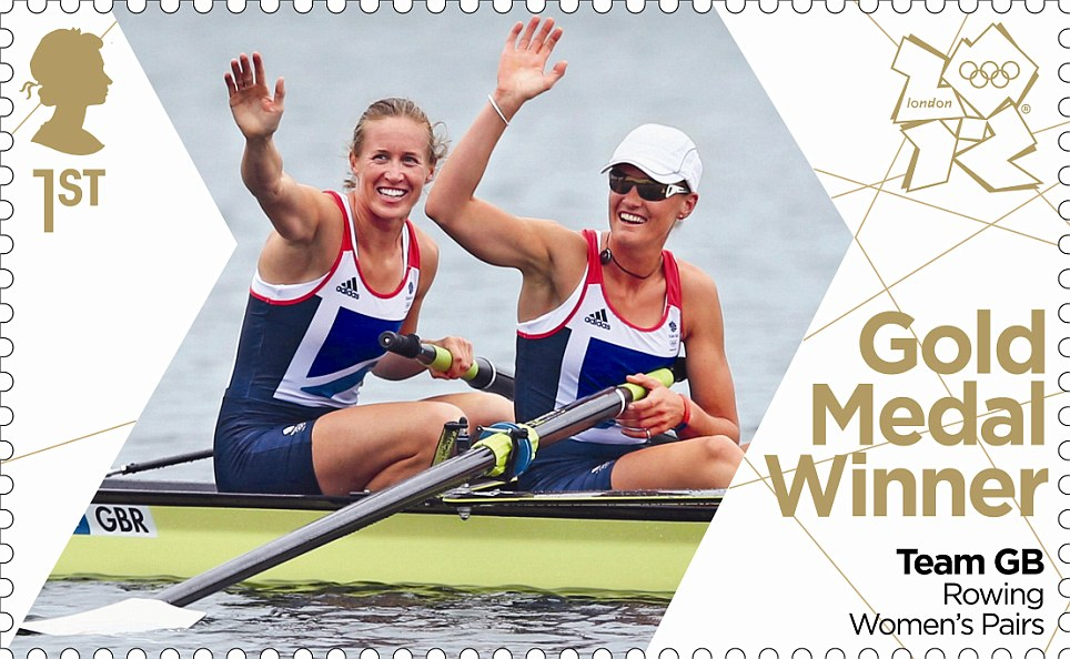 The Royal Mail have issued a stamp in tribute to Britain's first gold medal winners