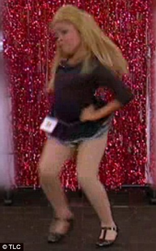 She's got the moves: The youngster swung her hips and hair around like the pop diva does herself