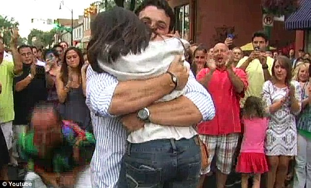 Movie moment: No stranger to the television, the sports broadcaster and journalist embraces his new fiancee