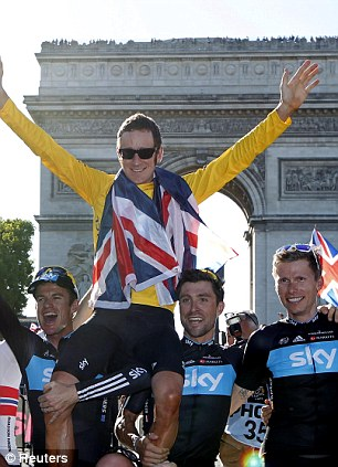 French fancy: Wiggins became the first Briton to win the Tour de France