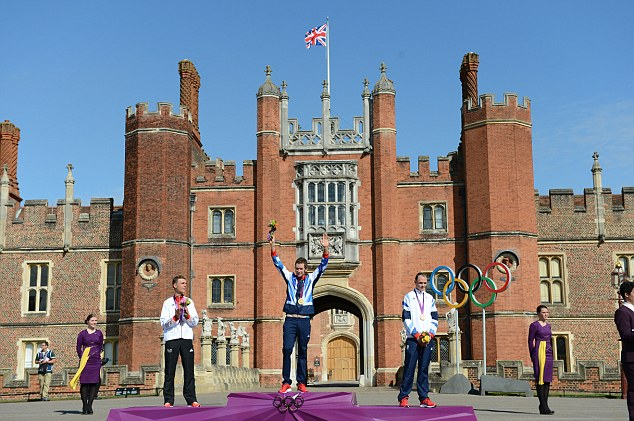 What a setting: The time trial started and finished at Hampton Court Palace