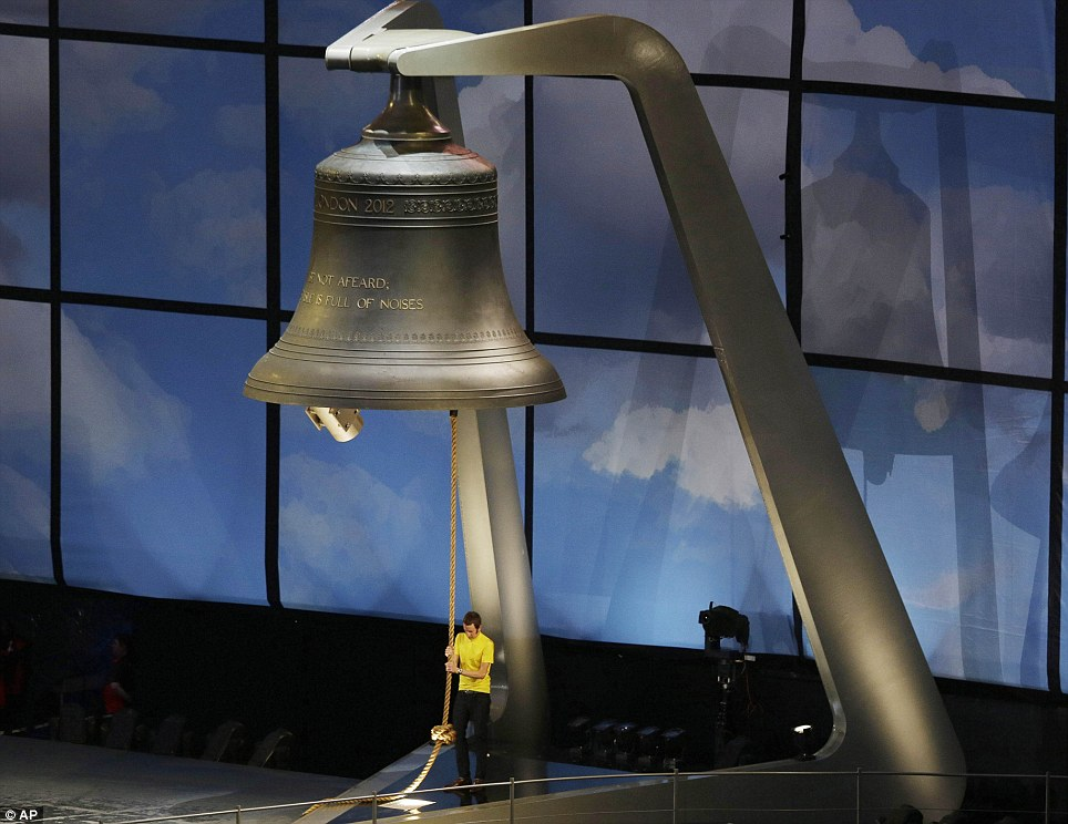 Wiggins was given the honour of ringing the giant bell which started the Olympic Opening Ceremony last Friday