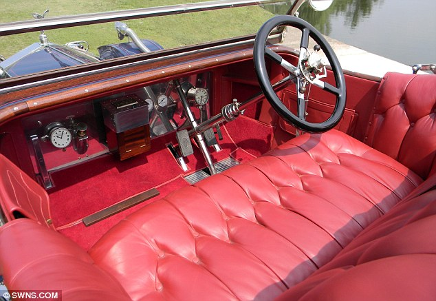 Luxurious: The Silver Ghost, which once belonged to Sir Adolph Tuck - the son of Raphael Tuck who made his fortune in the postcard business, has a red leather interior