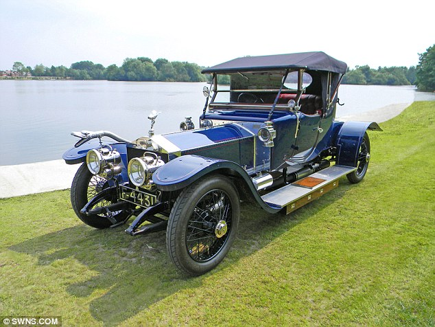 Pricey: The Rolls-Royce would have cost around £1500 in 1911 - the equivalent of up to ten times the average professional's wage at the time
