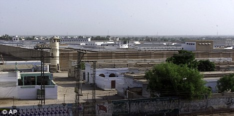 The man was helped by the Red Cross who discovered he had been held at a Pakistani prison, like the one in this picture