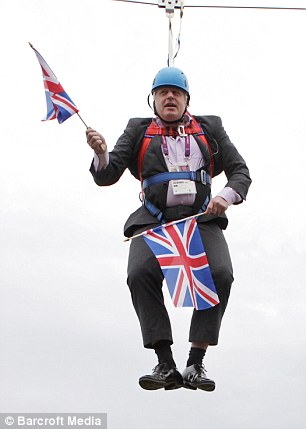 London Mayor Boris Johnson has proved he is ready to put his body on the line for a successful 2012 Olympics