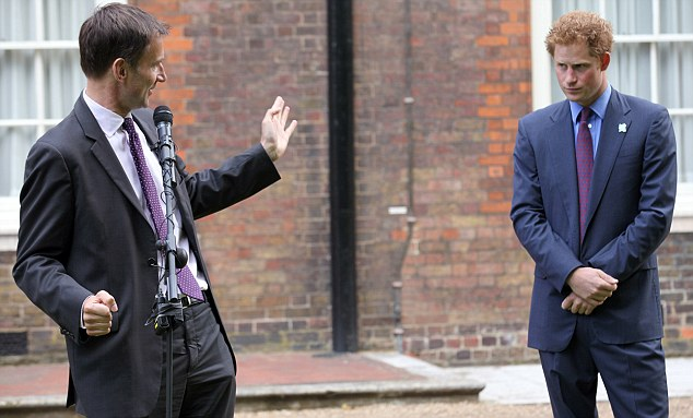 Culture secretary Jeremy Hunt introduced Harry to guests