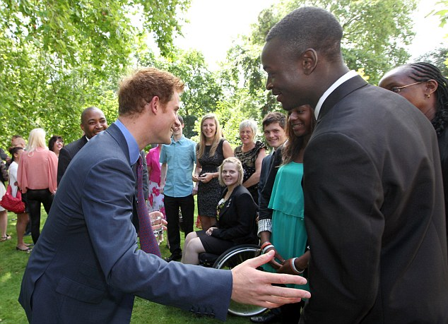 The prince entertained a group of young sports hopefuls in the gardens of Clarence House