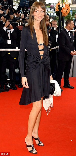 Actress Saffron arrives for the screening of Bad Education - a film by Pedro Almodovar at Cannes in 2004