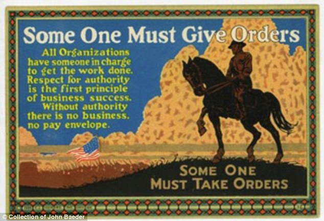 Dear leader: The card sought to inspire employees to respect the authority wielded by the person at the helm of the business