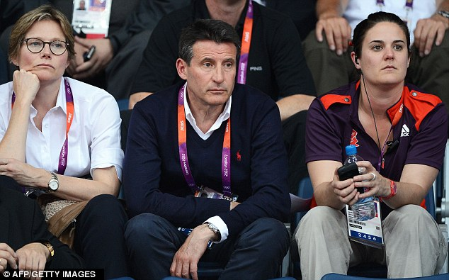 Unacceptable: Lord Sebastian Coe (centre) slammed the conduct of all eight badminton players, saying it was 'depressing' and 'unacceptable'