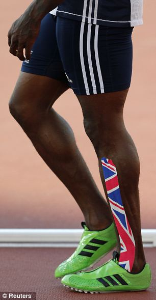 The legs of Dwain Chambers of Britain