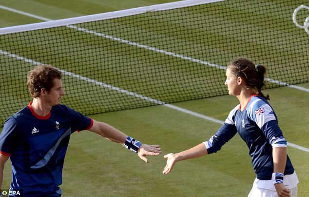 Good start: Andy Murray and Laura Robson
