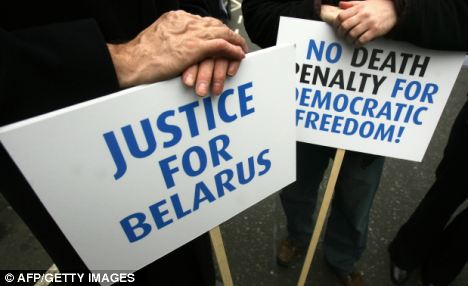 Oppressed: Belarus's human rights problems are well documented, with a harsh stance taken on any opposition