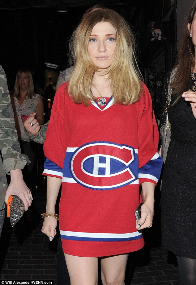 Blunder: Nicola Roberts' attire was better-suited to a sports match than the launch of a new fashion TV show