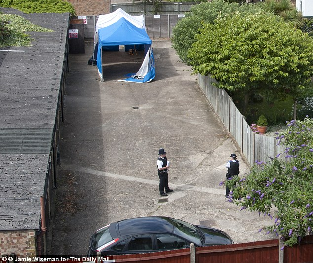 Police are patrolling the area as they await the outcome of the postmortem which confirmed the identity of the body to be Carole Waugh