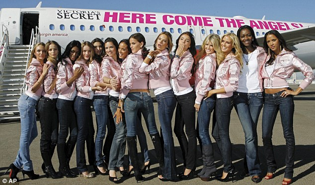 Here come the angels: The brand's stable of supermodels are expected to fly in to London for the launch of the flagship store