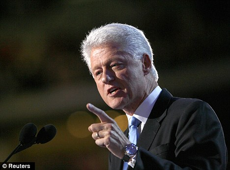 Looking for enlightenment: Former President Bill Clinton has taken up meditation to help him relax