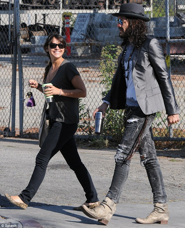 Dumped: Russell Brand is said to have ditched girlfriend Isabella Brewster for Geri