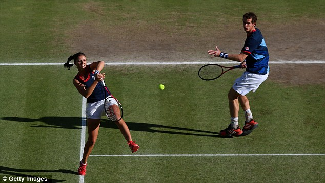 Out of luck: Andy Murray and Laura Robson were unable to win gold in the mixed doubles final