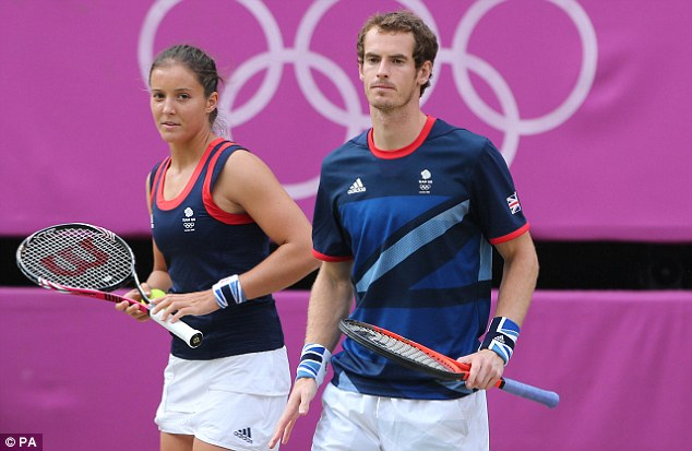 Edged out: Murray was unable to add to the gold medal he won earlier in the singles