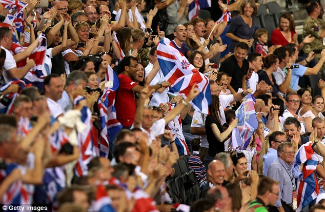 Defeaning: The roof almost came off the Velodrome as Britain raced to a host of gold medals