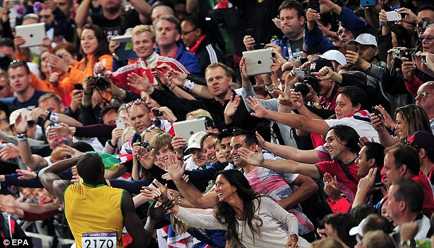 Unbeatable: The crowd in the Olympic Stadium has been electrifying