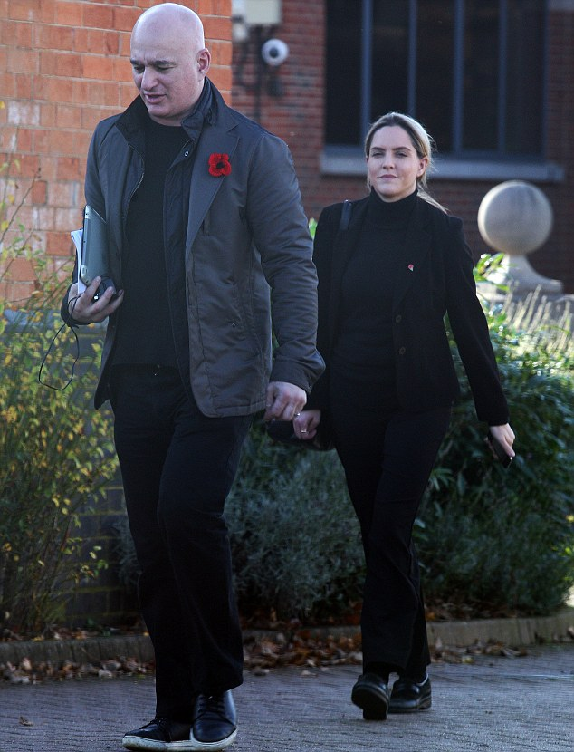Leaving: Tory MP Louise Mensch, pictured with her band manager husband Peter Mensch in her Corby constituency, will be living together in New York for good