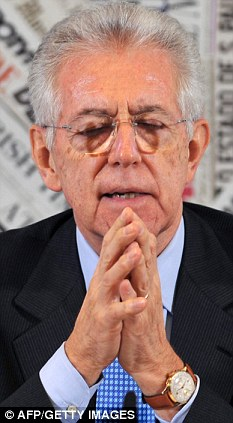 Saviour? Italian prime minister Mario Monti says he will do his utmost to steer Italy out of financial ruin