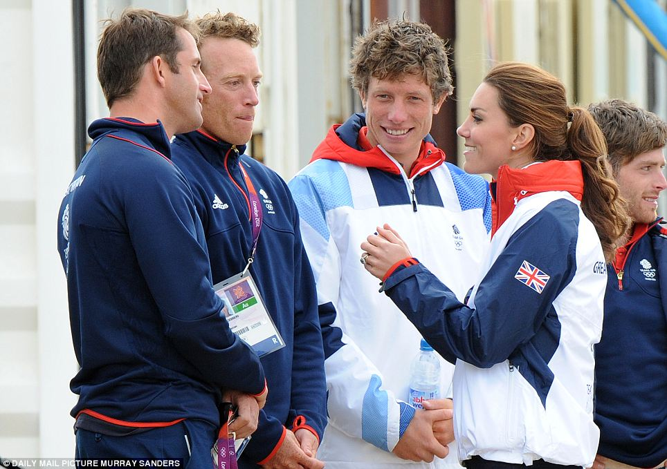 Sporty Kate meets record-breaker Ben Ainslie and his team in Weymouth