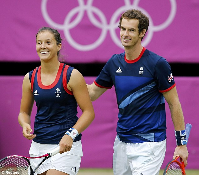 Magnanimous in defeat: Murray and Robson only just missed out on a gold medal in the mixed doubles