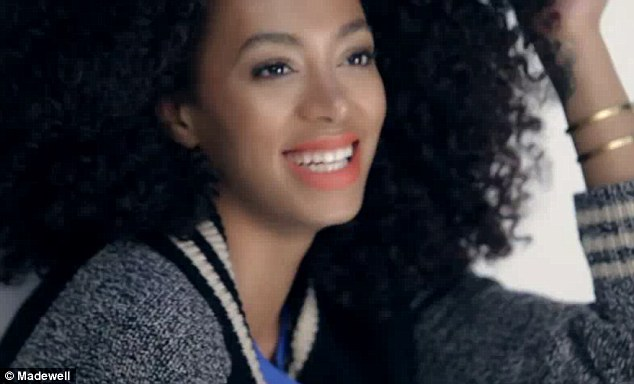 Star signing: The singer was seen in a behind-the-scenes video for the campaign (above) earlier this month