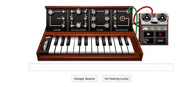 Play it again! Google honoured synthesiser pioneer Robert Moog's birthday with a home page doodle in May