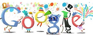 New Year's Eve: Google celebrated the start of 2012 with some jumping letters