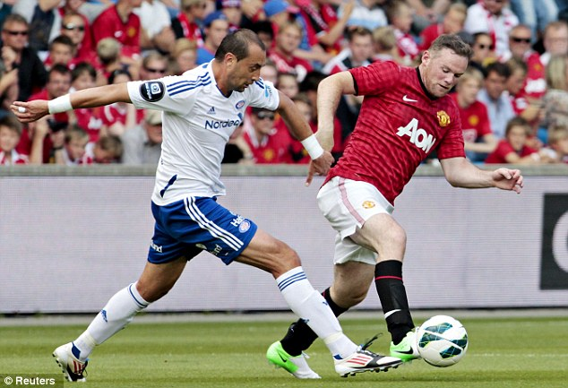 Rooney (right) and his Manchester United team-mates have only scored three goals in four pre-season games