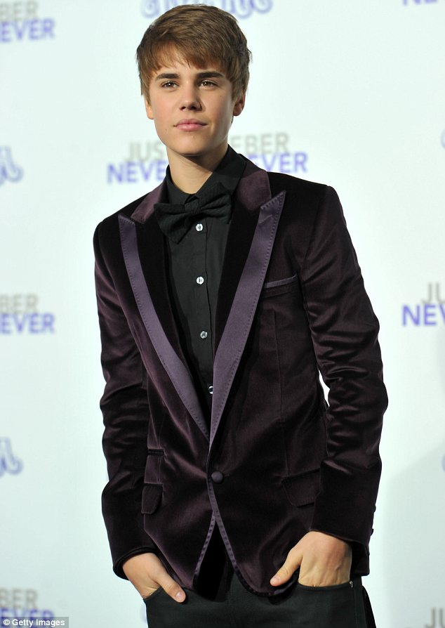 Famous tresses: At one time Justin's head of hair and hairstyle was almost as famous as he is