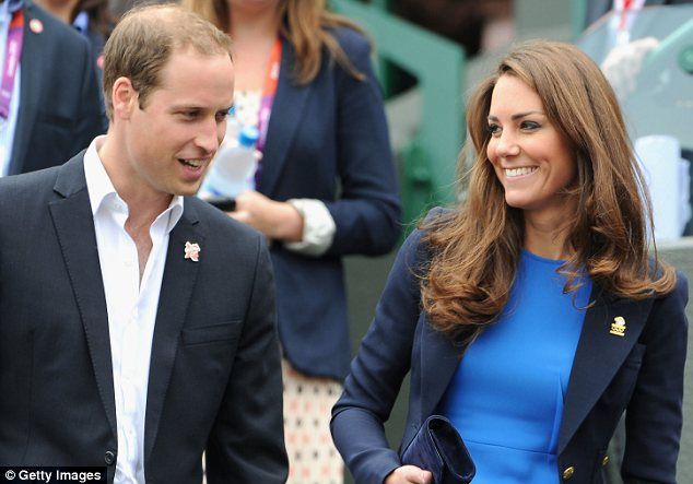 A royal pain: Brits are reportedly not responding well to the comments Justin made about William, pictured with Kate at the Olympics last week
