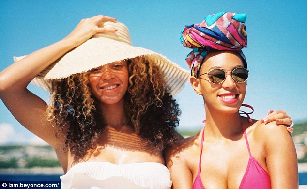 Sisterly love: Solange (right) and her famous older sister (left) have always shared a supportive relationship