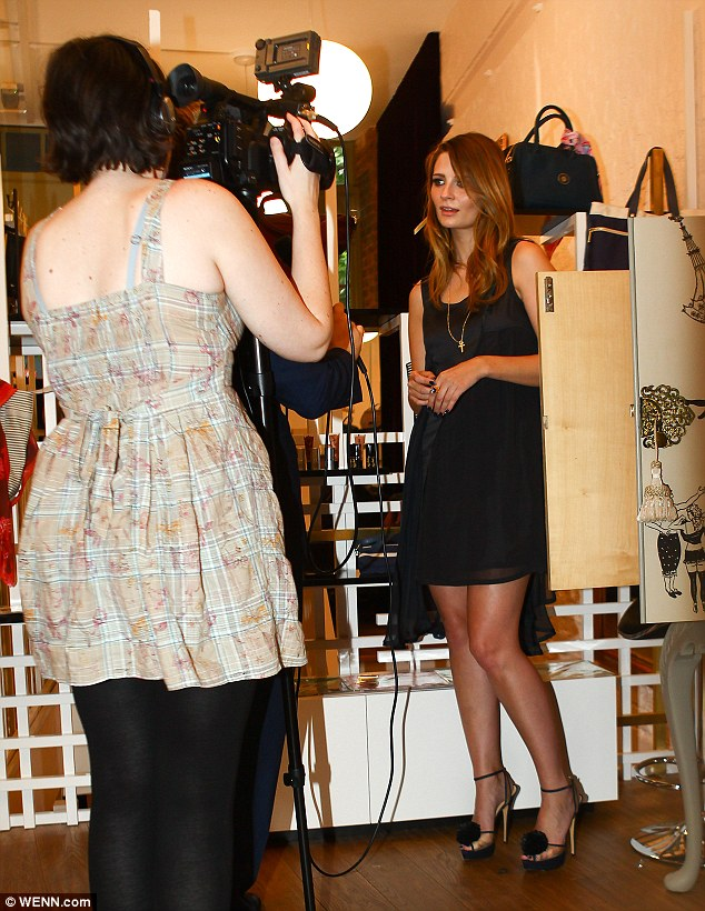 Lights, camera, action! The actress was also seen filming inside the Spitalfield's store