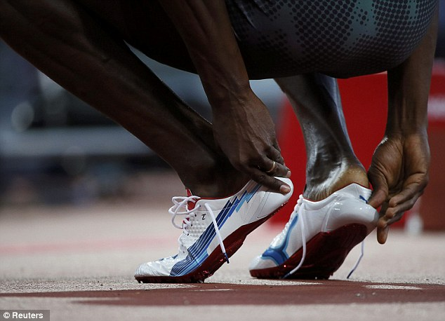 Best foot forward: Bolt is preparing to dazzle the world with another 200m title
