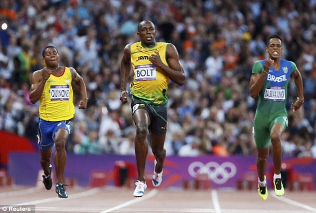 Float on: Bolt barely touches the ground when during his sprints