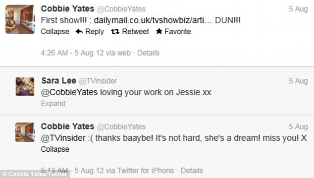 All change: Cobbie Yates was congratulated on his fine work by one of his Twitter followers