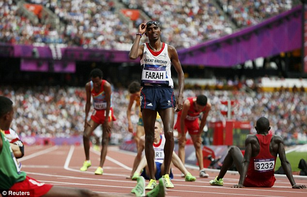 Onwards and upwards: Mo Farah can look forward to a couple of days off before Friday's 5,00m final