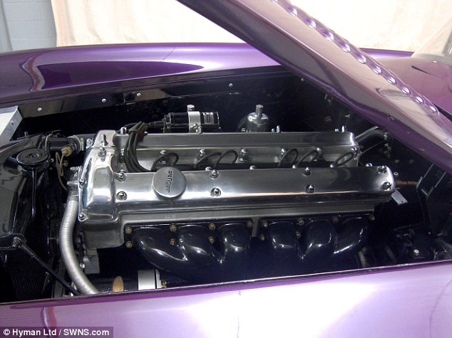 Under the bonnet: The car has retained its 180bhp Jaguar engine, giving it a top speed of over 140mph