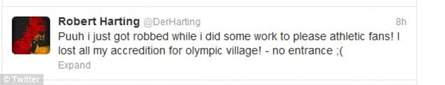 After waking up without his bag following his celebratory exploits, Harting took to Twitter to reveal the predicament he found himself in