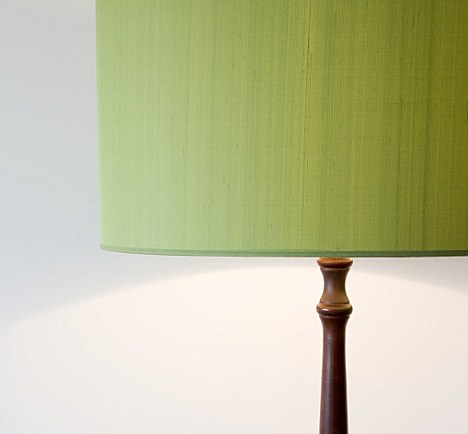 Homemade heaven: A bespoke shade can liven up even the most boring of lamps
